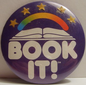 Completed Pizza Hut BOOK IT! Button