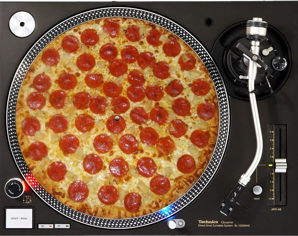 Pizza-DJ Slipmat