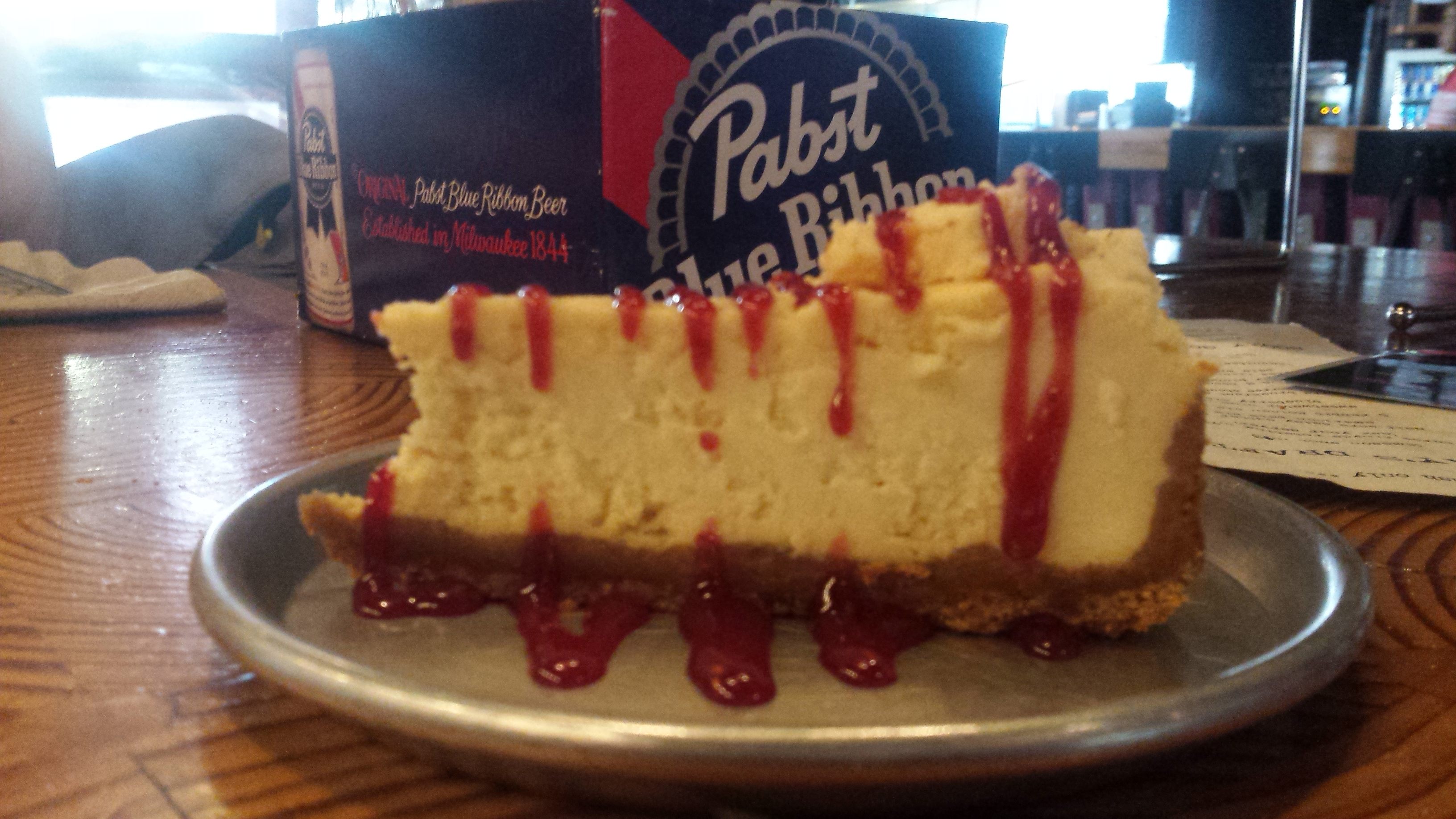 Boiler Room Jameson Cheesecake with Jameson Raspberry Sauce
